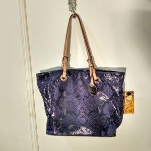 Purple Snakeskin Michael Kors Shoulder Bag